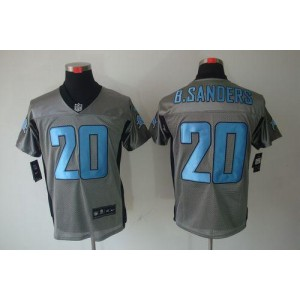 Nike Detroit Lions No.20 Barry Sanders Grey Shadow Elite Stitched Football Jersey