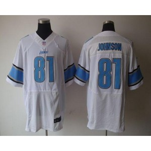 Nike Detroit Lions No.81 Calvin Johnson White Elite Stitched Football Jersey