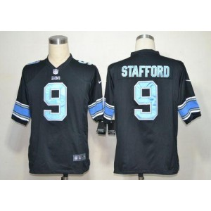 Nike Detroit Lions No.9 Matthew Stafford Black Game Stitched Football Jersey