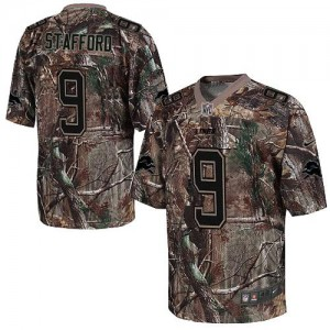 Nike Detroit Lions No.9 Matthew Stafford Camo Realtree Elite Stitched Football Jersey