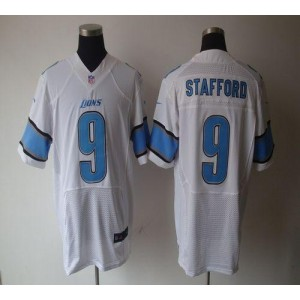 Nike Detroit Lions No.9 Matthew Stafford White Elite Stitched Football Jersey