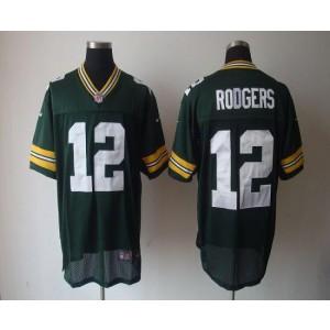 Nike Packers 12 Aaron Rodgers Green Elite NFL Jersey