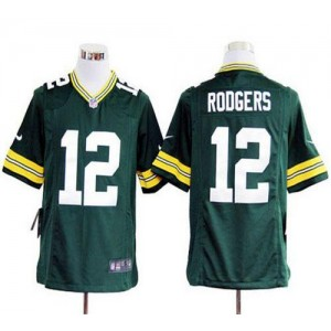 Nike Green Bay Packers No.12 Aaron Rodgers Green Game Stitched Football Jersey