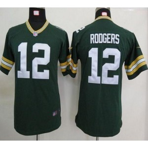 Youth Nike Green Bay Packers 12 Aaron Rodgers Green NFL Elite Jersey