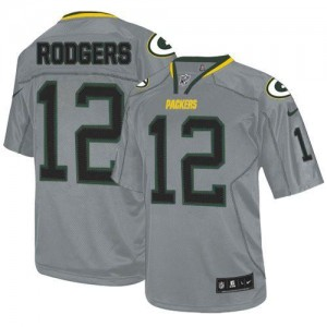 Nike Green Bay Packers No.12 Aaron Rodgers Lights Out Grey Elite Stitched Football Jersey