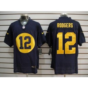 Nike Green Bay Packers No.12 Aaron Rodgers Navy Blue Elite Stitched Football Jersey