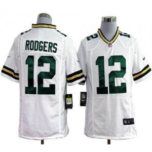 Nike Green Bay Packers No.12 Aaron Rodgers White Game Stitched Football Jersey