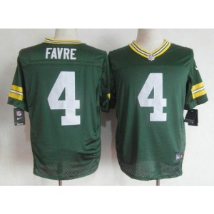 Nike Green Bay Packers No.4 Brett Favre Green Male Elite Jersey