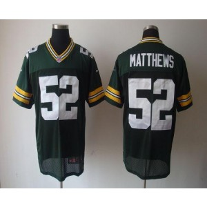 Nike Packers 52 Clay Matthews Green Elite NFL Men Jersey