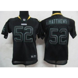 Youth Nike Green Bay Packers 52 Clay Matthews Lights Out Black NFL Elite Jersey