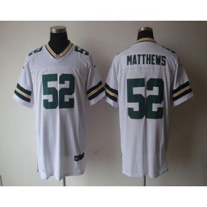 Nike Packers 52 Clay Matthews White Elite NFL Men Jersey