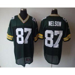 Nike Packers 87 Jordy Nelson Green Elite NFL Men Jersey