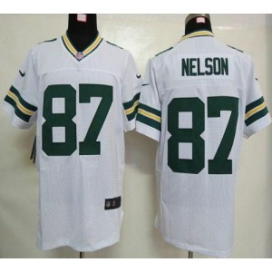 Nike Packers 87 Jordy Nelson White Elite NFL Men Jersey