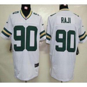 Nike Packers 90 B.J. Raji White Elite NFL Men Jersey