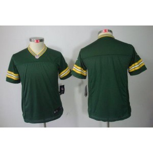 Youth Nike Green Bay Packers Blank Green NFL Limited Jersey