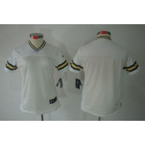 NFL Nike Packers Blank White Women's Limited Jersey