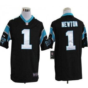Nike Carolina Panthers 1 Cam Newton Black Game Football Jersey