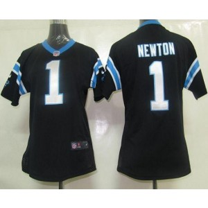 Nike Panthers 1 Cam Newton Black Women's Elite Jersey