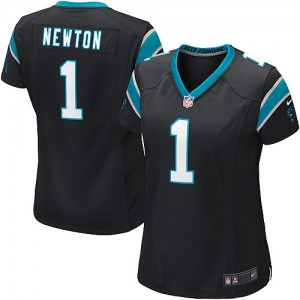 Nike Panthers 1 Cam Newton Black Women's Game Jersey