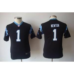 Youth Nike Carolina Panthers 1 Cam Newton Black Game Jersey