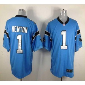 Nike Carolina Panthers 1 Cam Newton Blue Game Football Jersey
