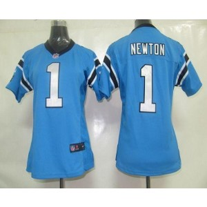 Nike Panthers 1 Cam Newton Blue Women's Elite Jersey