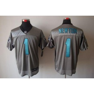 Nike Carolina Panthers 1 Cam Newton Grey Shadow Elite Football Jersey