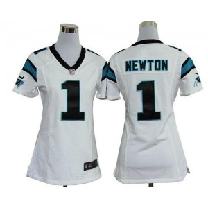 Nike Panthers 1 Cam Newton White Women's Elite Jersey