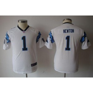 Youth Nike Carolina Panthers 1 Cam Newton White Game Jersey
