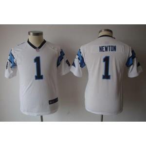 Youth Nike Carolina Panthers 1 Cam Newton White Game Jersey