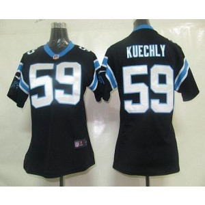 Nike Panthers 59 Luke Kuechly Black Women's Elite Jersey