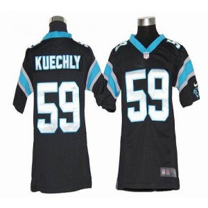 Youth Nike Carolina Panthers 59 Luke Kuechly Black Elite Jersey