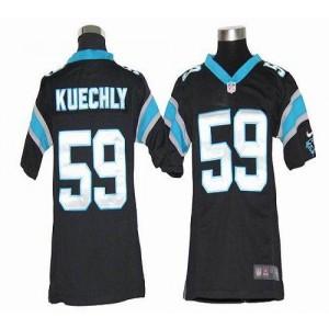 Youth Nike Carolina Panthers 59 Luke Kuechly Black Elite Jersey