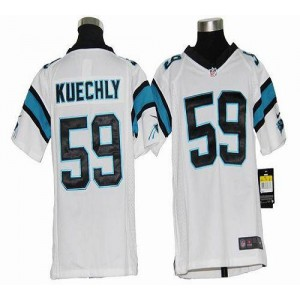 Youth Nike Carolina Panthers 59 Luke Kuechly White Elite Jersey