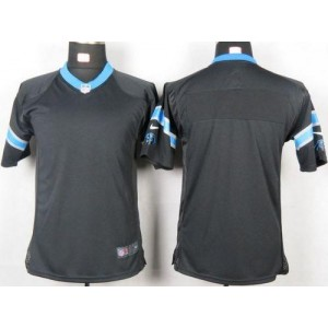 Youth Nike Carolina Panthers Blank Black Game Jersey