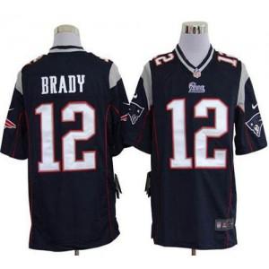Nike New England Patriots No.12 Tom Brady Navy Blue Game Jersey