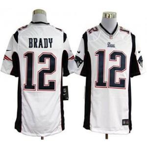 Nike New England Patriots No.12 Tom Brady White Game Jersey