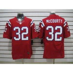 Nike New England Patriots No.32 Devin McCourty Red Elite Jersey