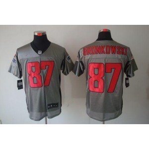 Nike New England Patriots No.87 Rob Gronkowski Grey Shadow Elite Jersey