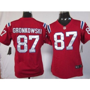 NFL Nike Patriots 87 Rob Gronkowski Red Women's Elite Jersey