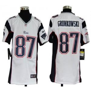 Youth Nike New England Patriots 87 Rob Gronkowski White NFL Elite Jersey