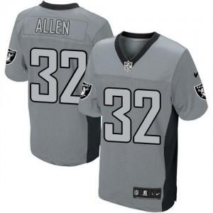 Nike Oakland Raiders No.32 Marcus Allen Grey Shadow Embroidered Elite Jersey