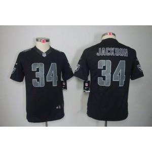 Nike Raiders #34 Bo Jackson Black Impact Youth Embroidered NFL Limited China Jerseys