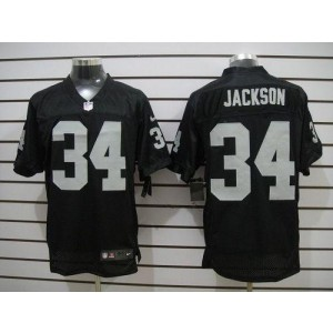 Nike Oakland Raiders No.34 Bo Jackson Black Elite Jersey