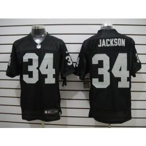 Nike Oakland Raiders No.34 Bo Jackson Black Elite Jersey