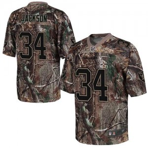 Nike Oakland Raiders No.34 Bo Jackson Camo Realtree Elite Jersey