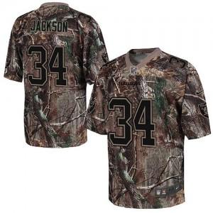 Nike Oakland Raiders No.34 Bo Jackson Camo Realtree Elite Jersey