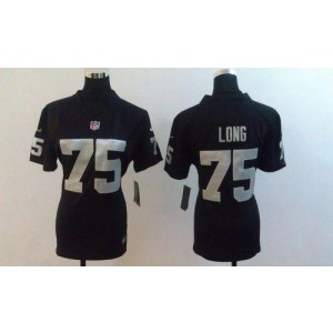 NFL Nike Raiders #75 Howie Long Black Team Color Women's Stitched NFL Elite Jersey