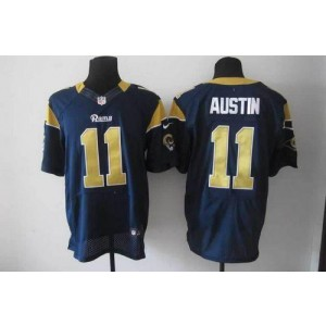 Nike St.Louis Rams No.11 Tavon Austin Navy Blue Male Elite Jersey