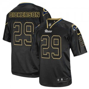 Nike St.Louis Rams No.29 Eric Dickerson Lights Out Black Elite Jersey